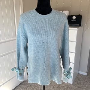 Blue Bow Sweater